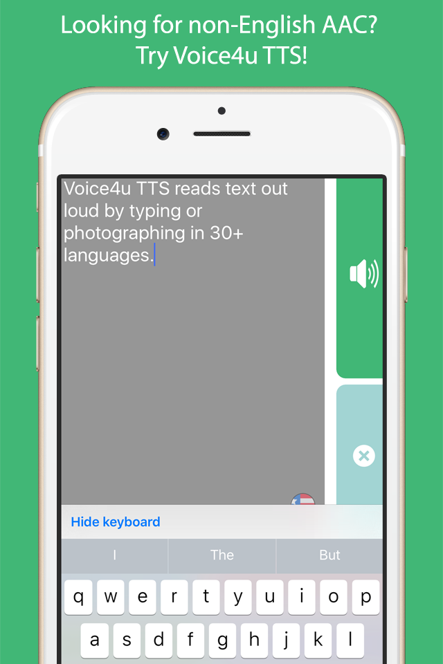 Voice4u Text-To-Speech (TTS) App with natural sounding voice
