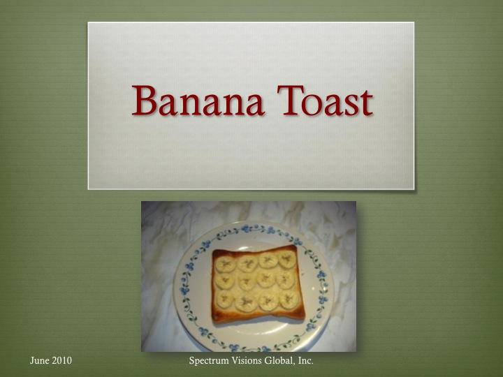 Banana Toast Visual Recipe