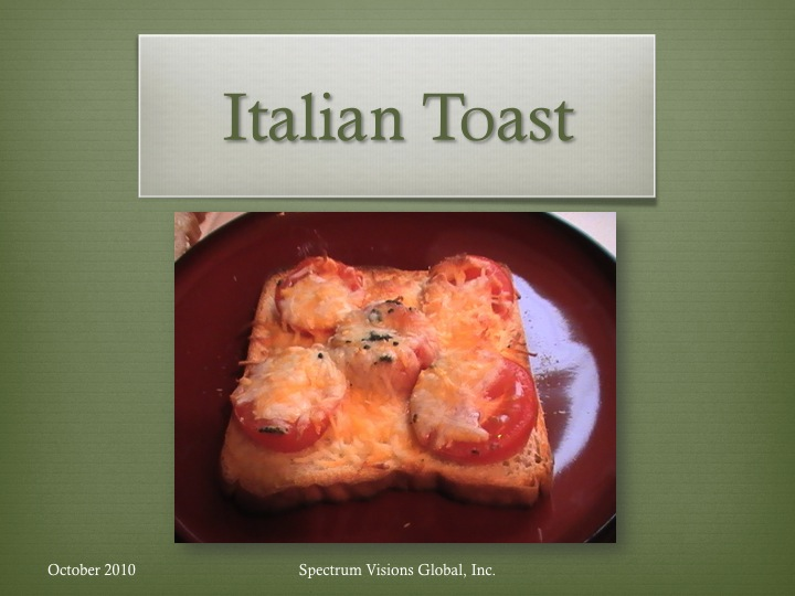 Italian Toast Visual Recipe
