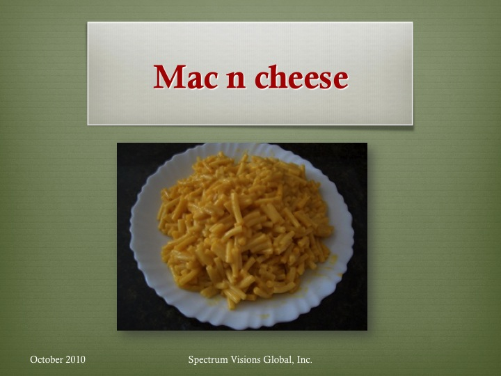 Mac & Cheese Visual Recipe