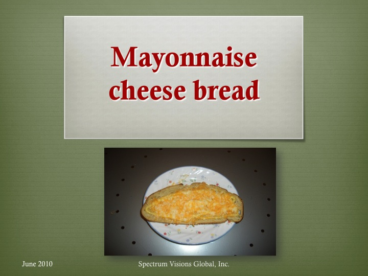 Mayonnaise Cheese Bread Visual Recipe