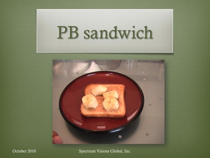 PB Sandwich Visual Recipe