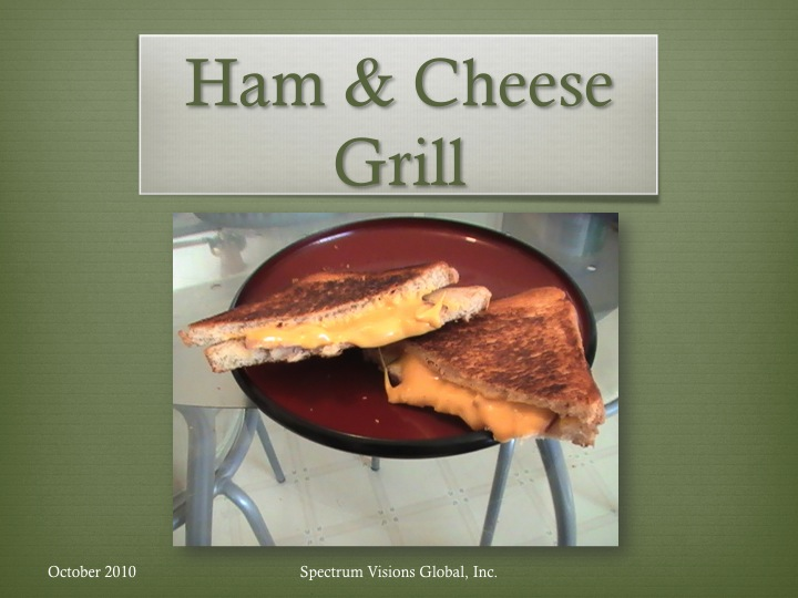 Ham & Cheese Grill Visual Recipe